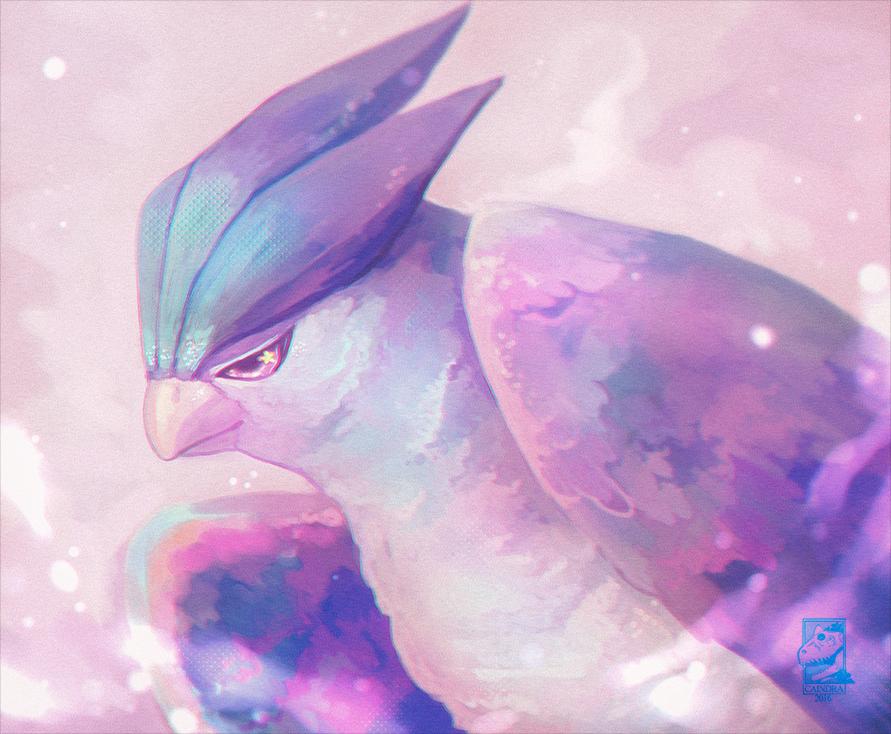 Pokémon-Zeichnung: Träumendes Arktoss