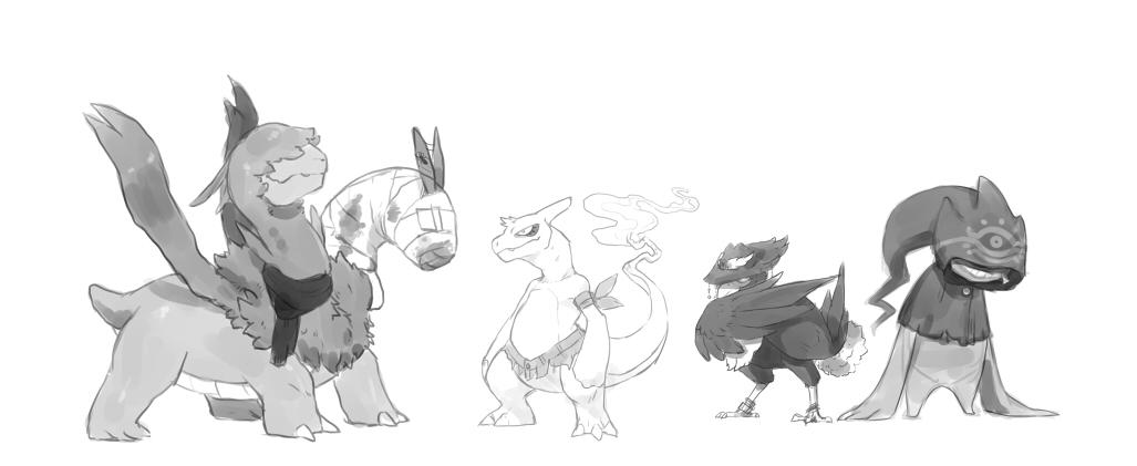 Pokémon-Zeichnung: schnelle skizze