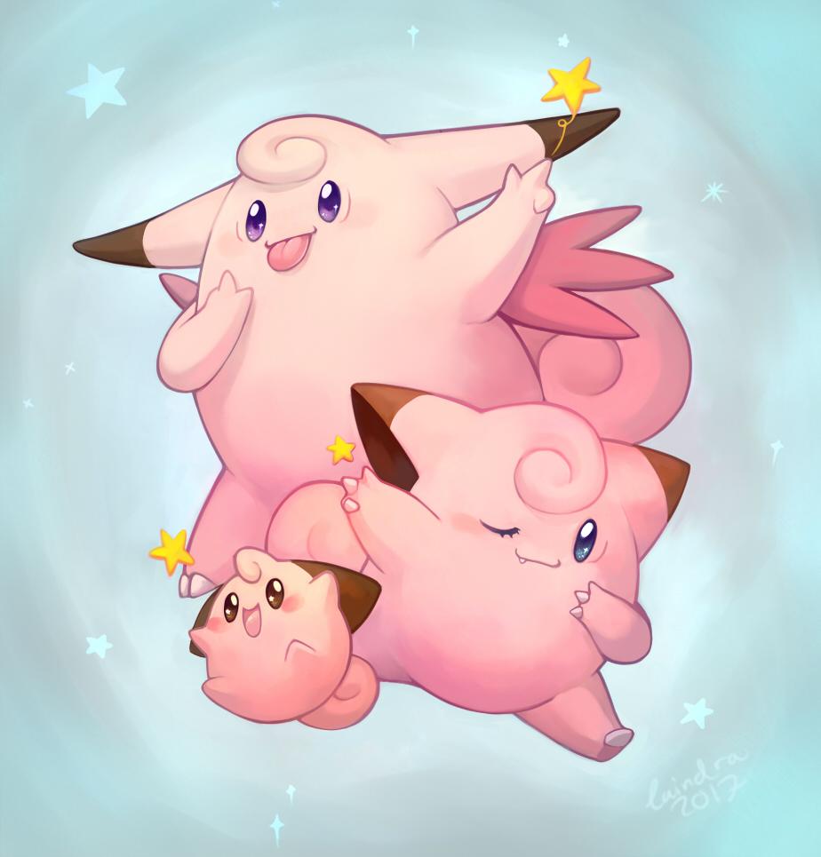 Pokémon-Zeichnung: Clef-sisters