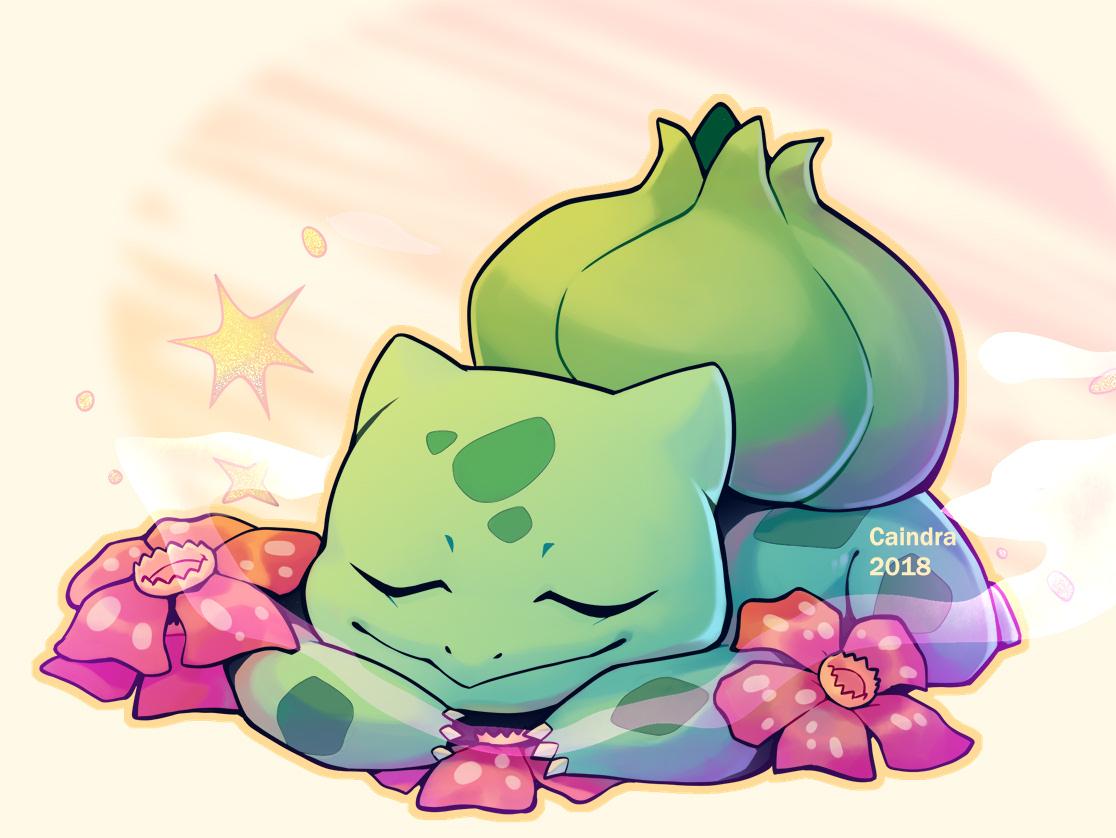 Pokémon-Zeichnung: Bisasam