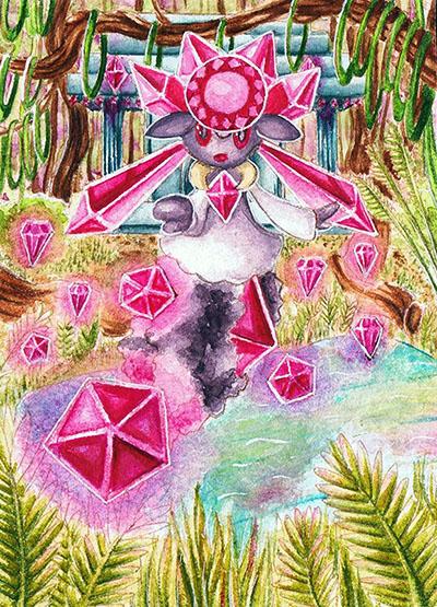 Pokémon-Zeichnung: Diamantensturm