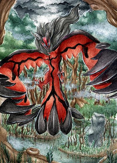 Pokémon-Zeichnung: Hüter des Waldes