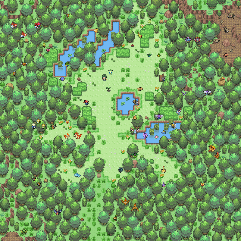 Pokémon-Map: Celebi's Glade