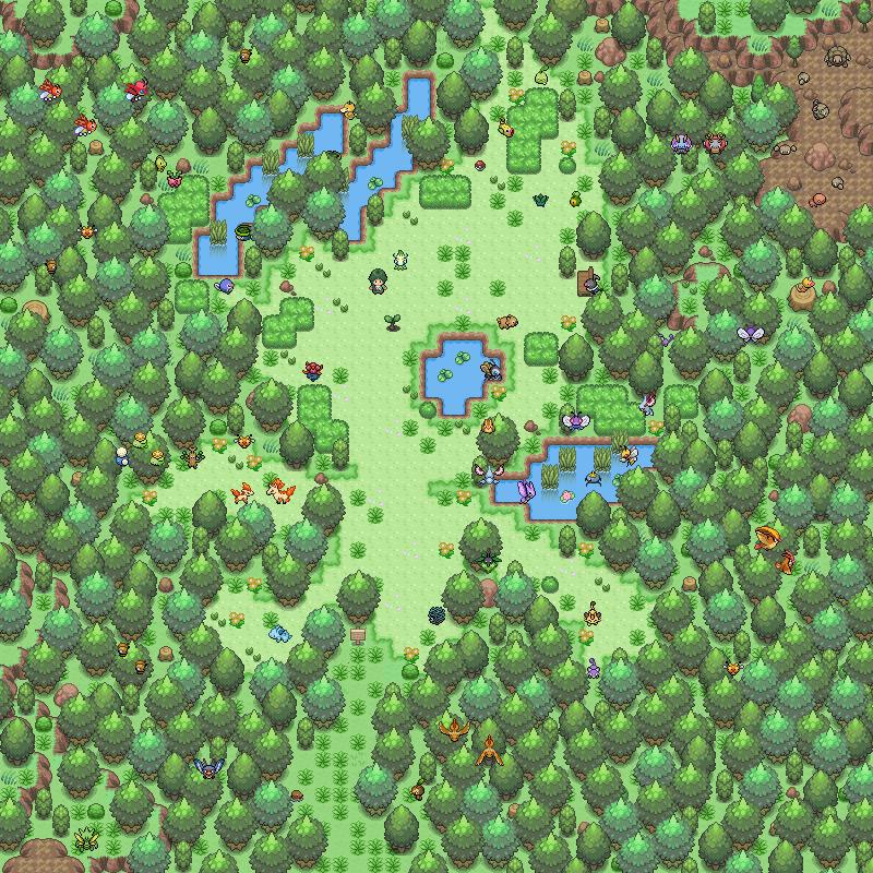 Pokémon-Map: Celebi's Glade