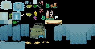 Pokémon-Tileset: Unterwasser