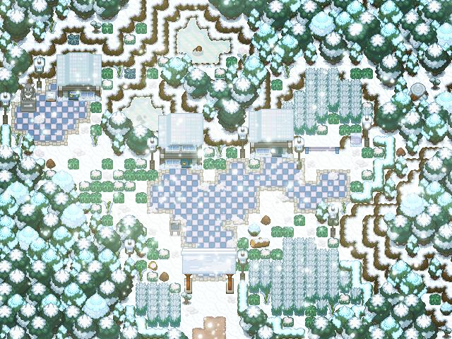 Pokémon-Map: Winterimpression