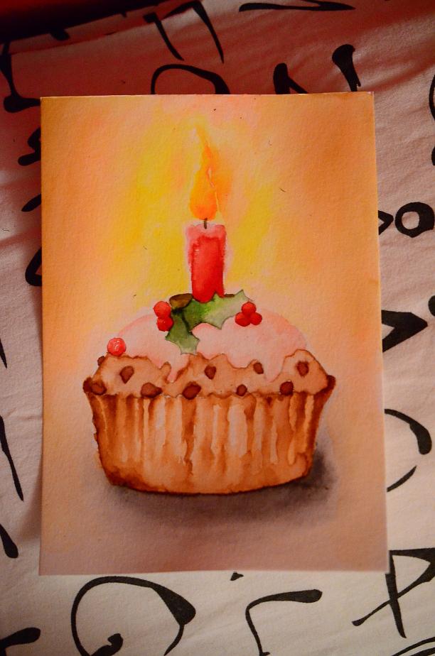 Pokémon-Zeichnung: Geburtstags-Cupcake