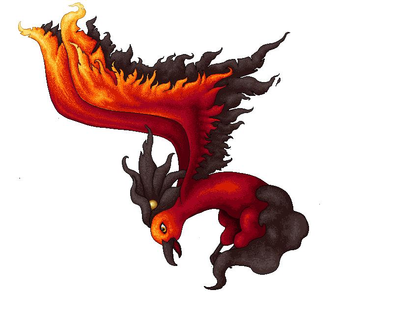 Pokémon-Pixelart: Feuervogel