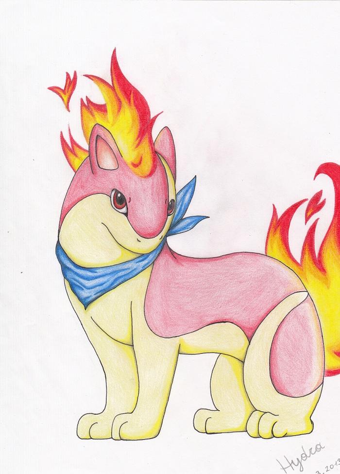 Pokémon-Zeichnung: Shiny Igelavar mit...schickem Halstuch?