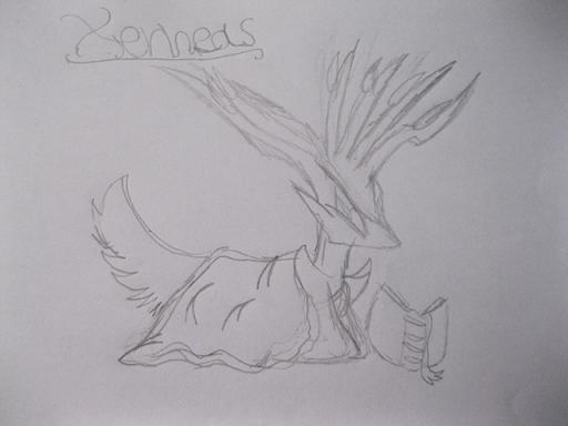 Pokémon-Zeichnung: Chibi Xerneas