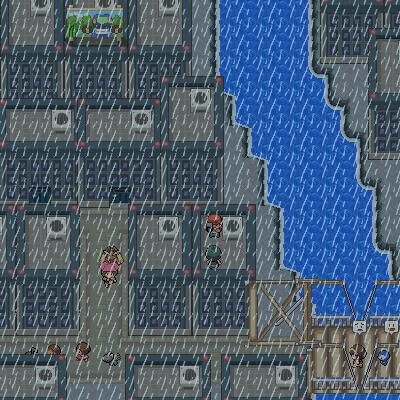 Pokémon-Map: Stadt im Regen