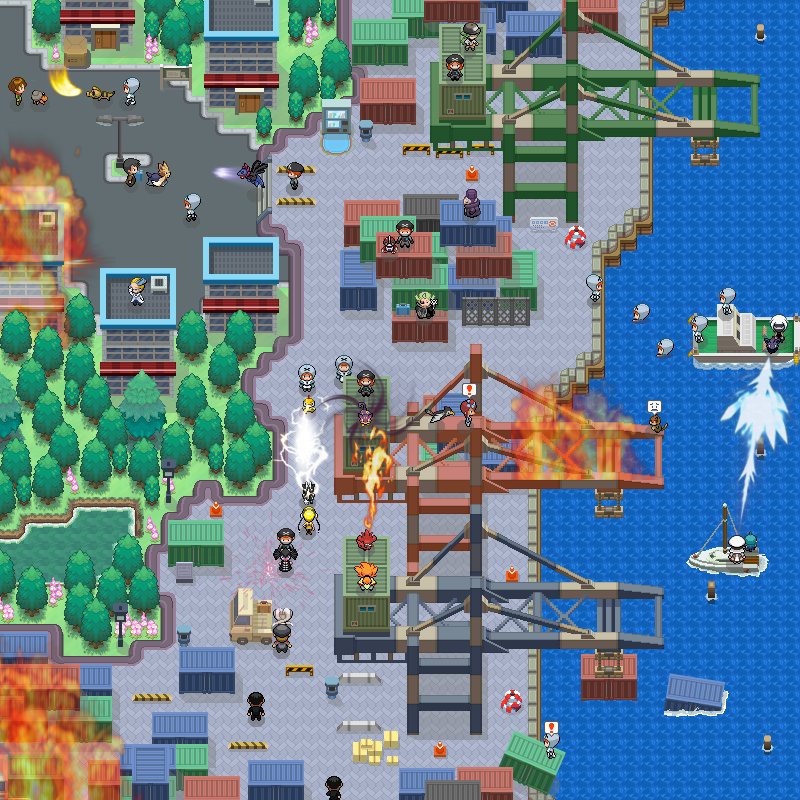Pokémon-Map: Showdown am Hafen II