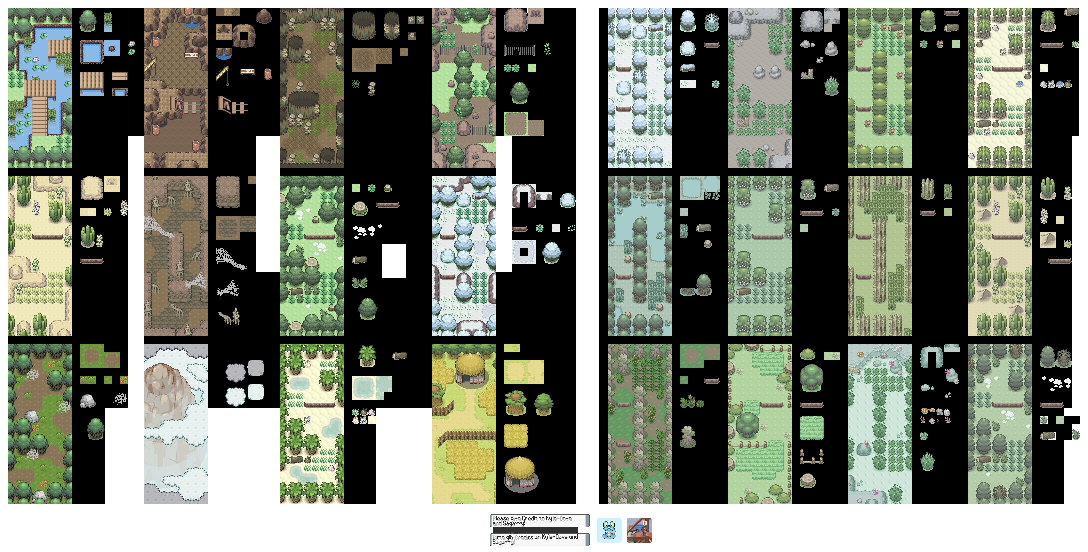 Pokémon-Tileset: Biome Tileset