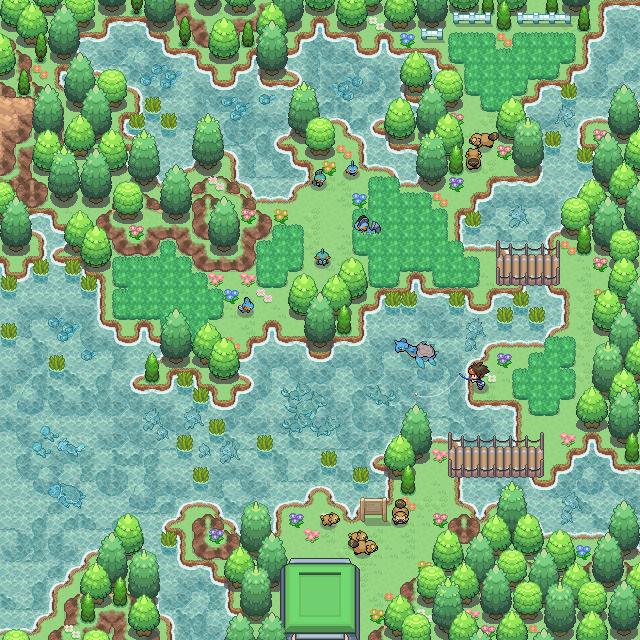 Pokémon-Map: Wasser-Safari
