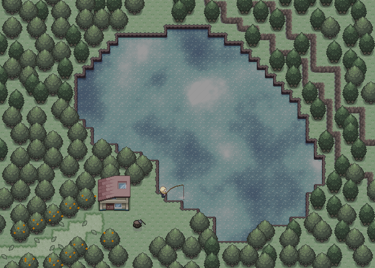 Pokémon-Map: Haus am See