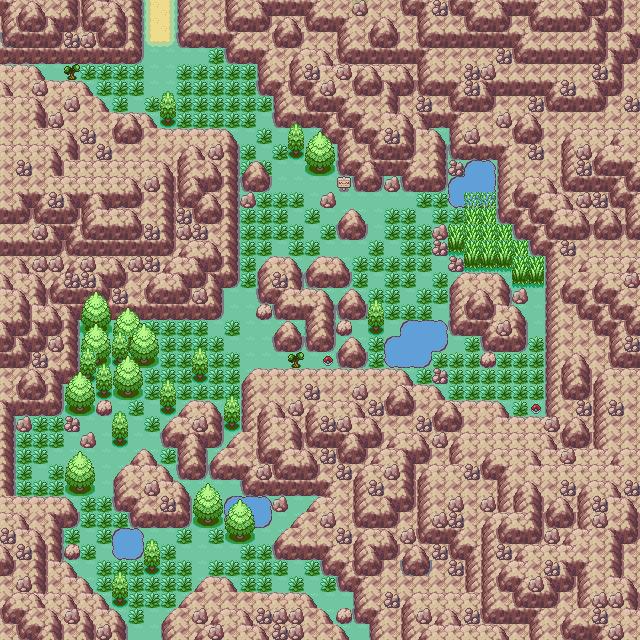 Pokémon-Map: Gebirge überarbeitet