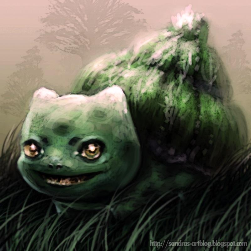 Pokémon-Zeichnung: Bisasam #001