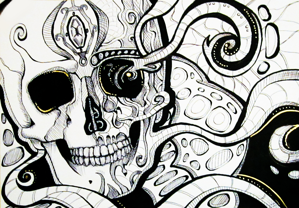 Pokémon-Zeichnung: Abstract Skull