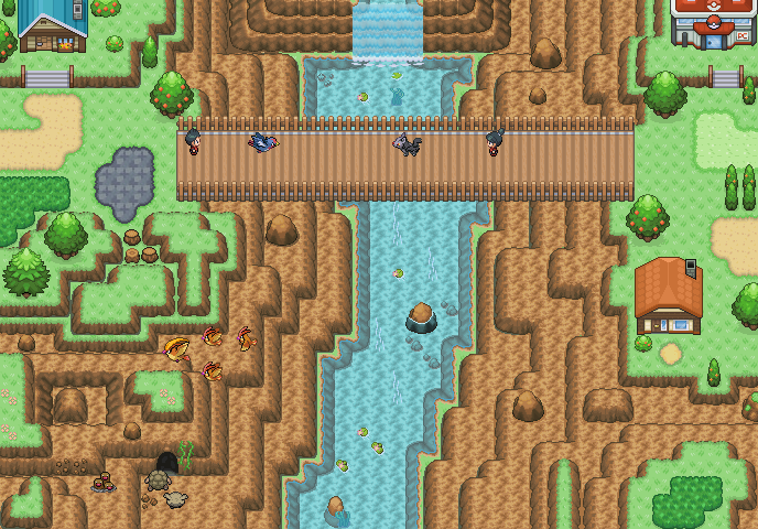 Pokémon-Map: Bergdorf