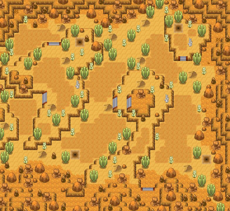 Pokémon-Map: Geheimroute - Tyrannen-Wüste