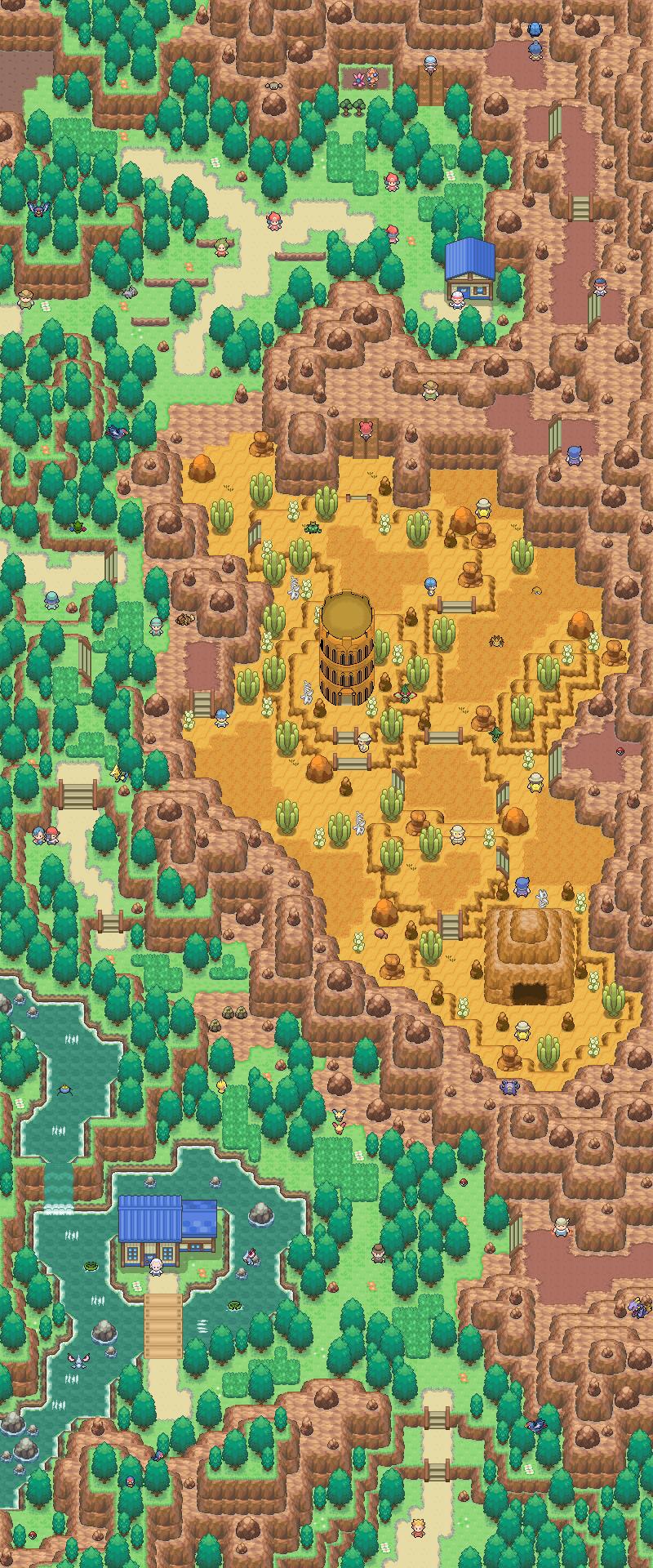 Pokémon-Map: Remake Route 111