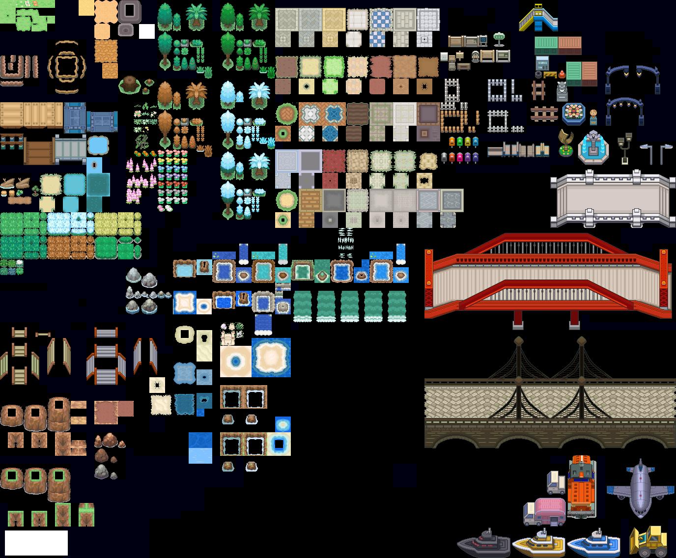 Pokémon-Tileset: Taragonia-BW-MIX / Ultimate Mix Edition 2