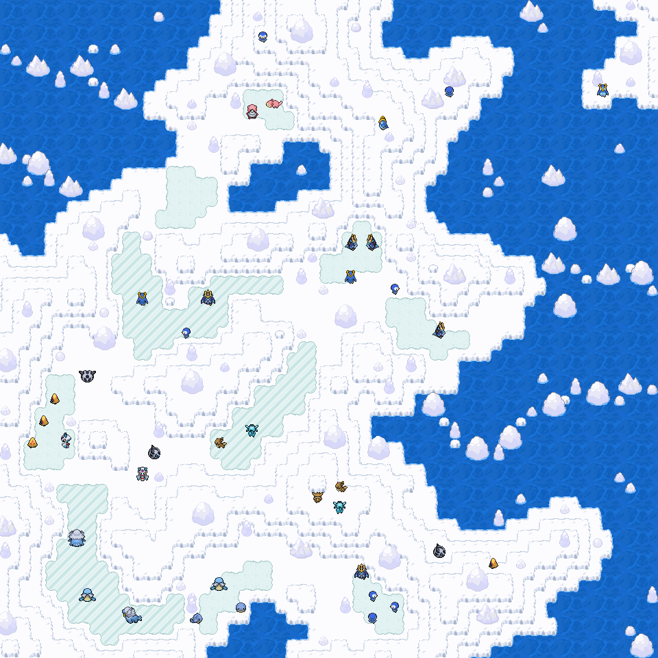 Pokémon-Map: Plinfa Lebensraum - Eisscholle