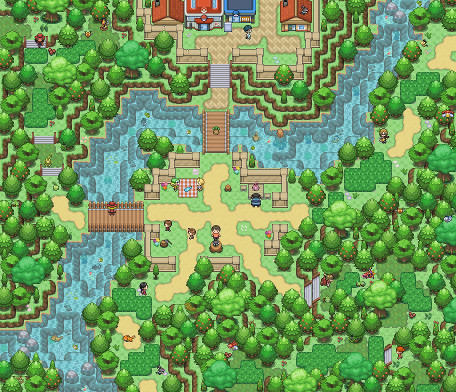 Pokémon-Map: Eine Kreuzung
