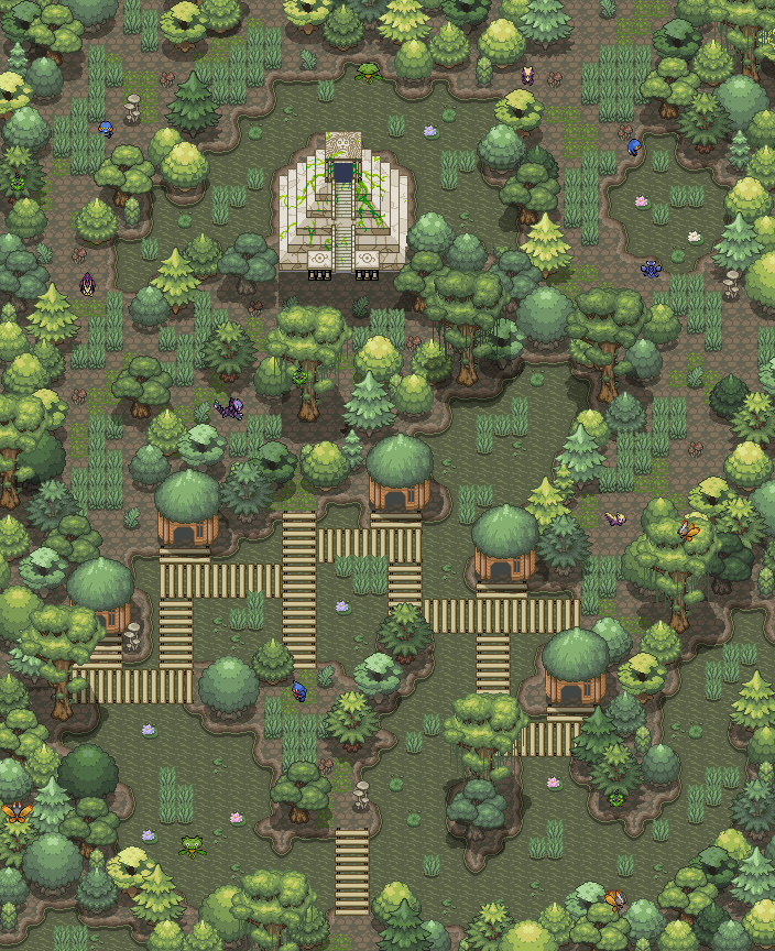 Pokémon-Map: Welcome to the (swampy) Jungle ~