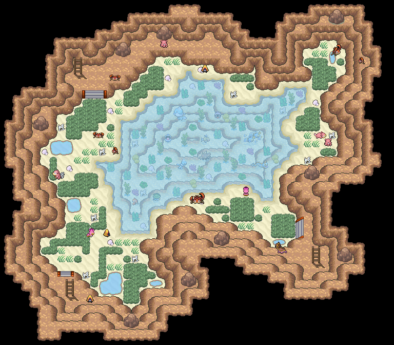 Pokémon-Map: Faloth Höhle - Kleine Lagune