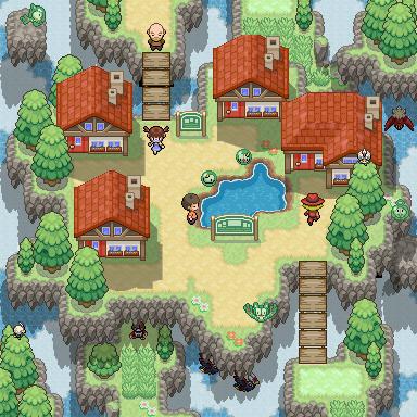 Pokémon-Map: Village in the Sky