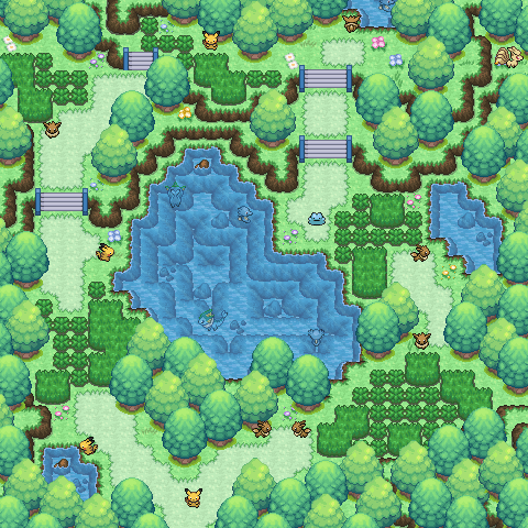 Pokémon-Map: Waldspatziergang