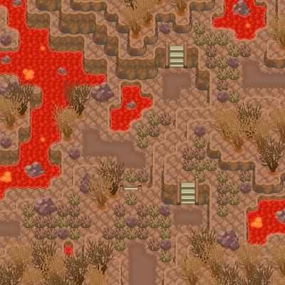 Pokémon-Map: Vulkan-Tilesettest