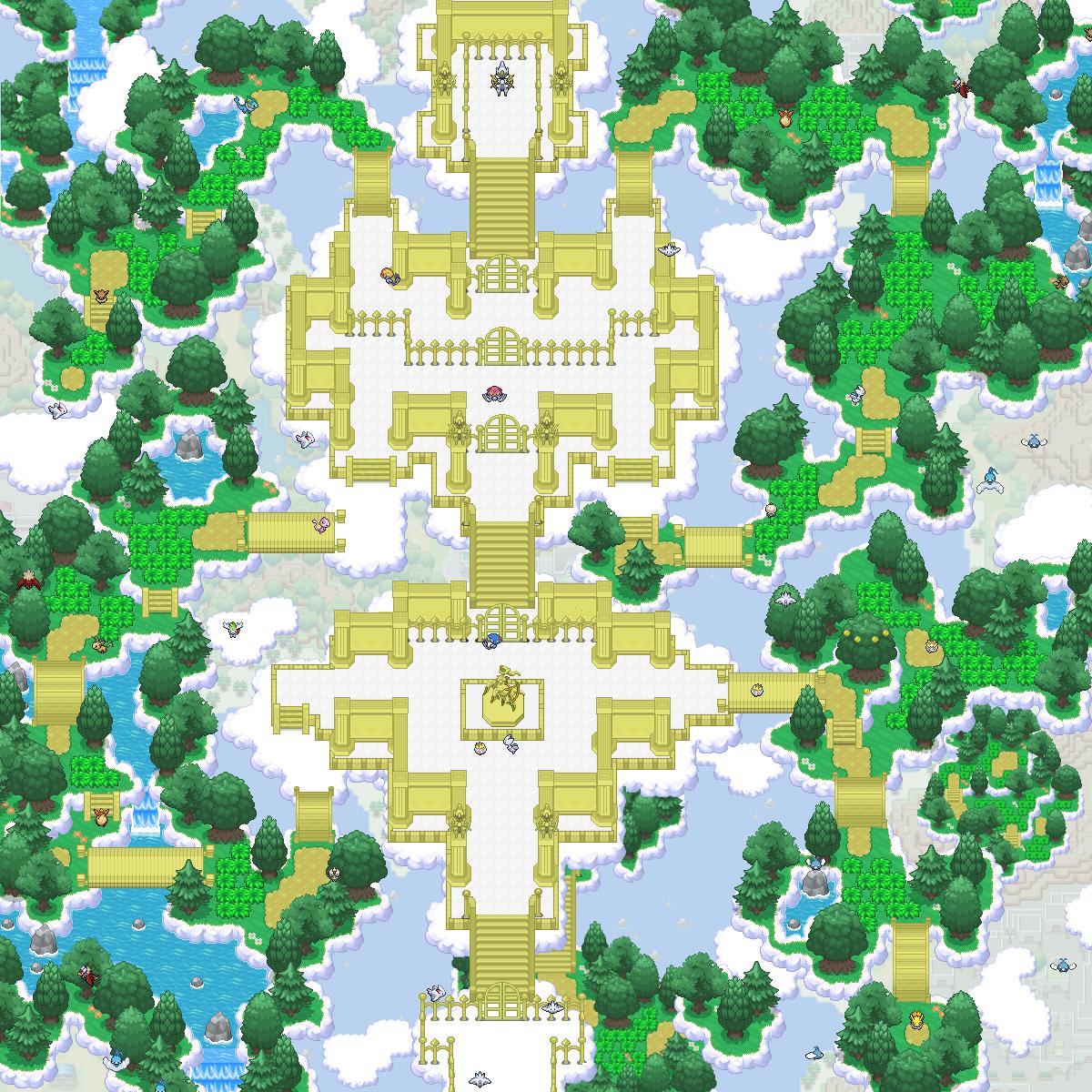 Pokémon-Map: Arceus Reich im Himmel