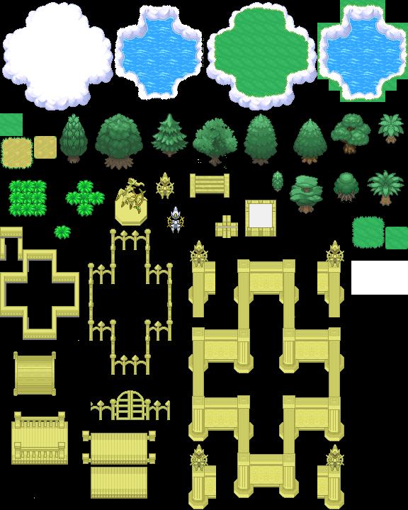 Pokémon-Tileset: Himmelsreich Tileset