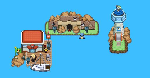 Pokémon-Map: Kleine Inselgruppe
