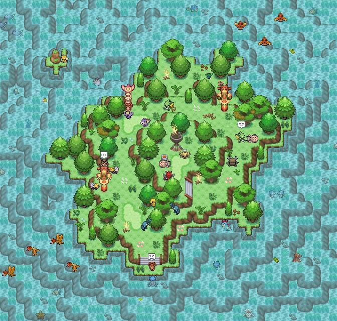Pokémon-Map: Kleine Map - viel dahinter ;)
