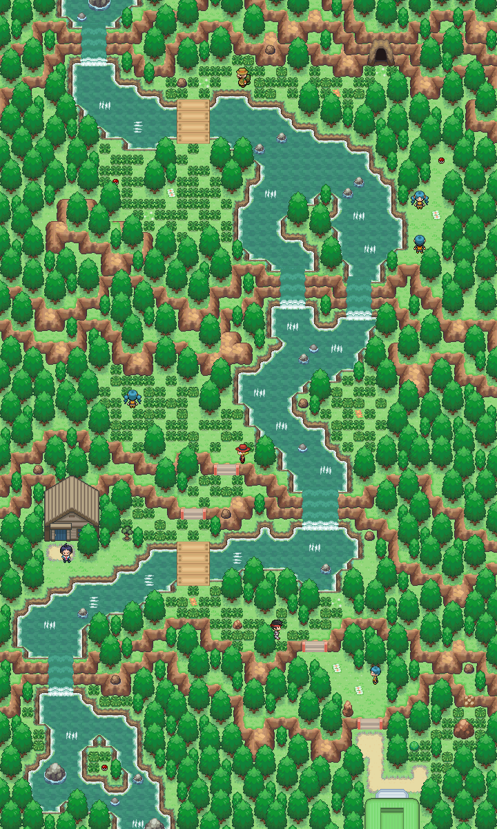 Pokémon-Map: Waterf+u/a+ll Map