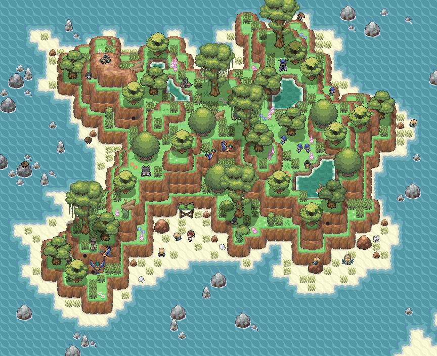 Pokémon-Map: Auf einer einsamen Insel...
