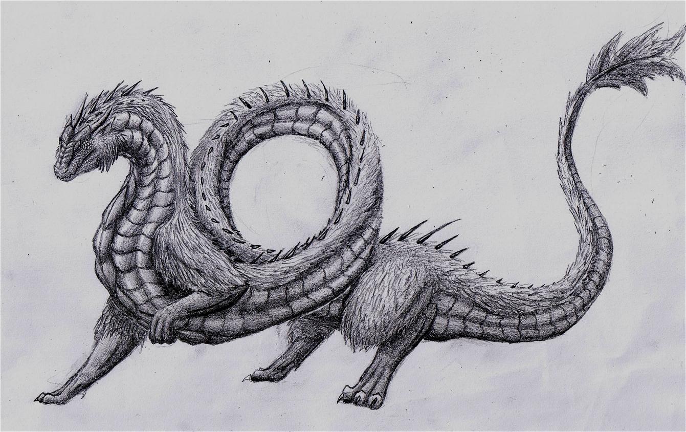 Pokémon-Zeichnung: Schlangendrache (?)