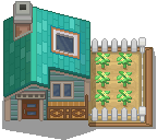 Pokémon-Tileset: Eventura City - Hero Haus