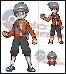 Pokémon-Pixelart: Protagonist meines Projekt's