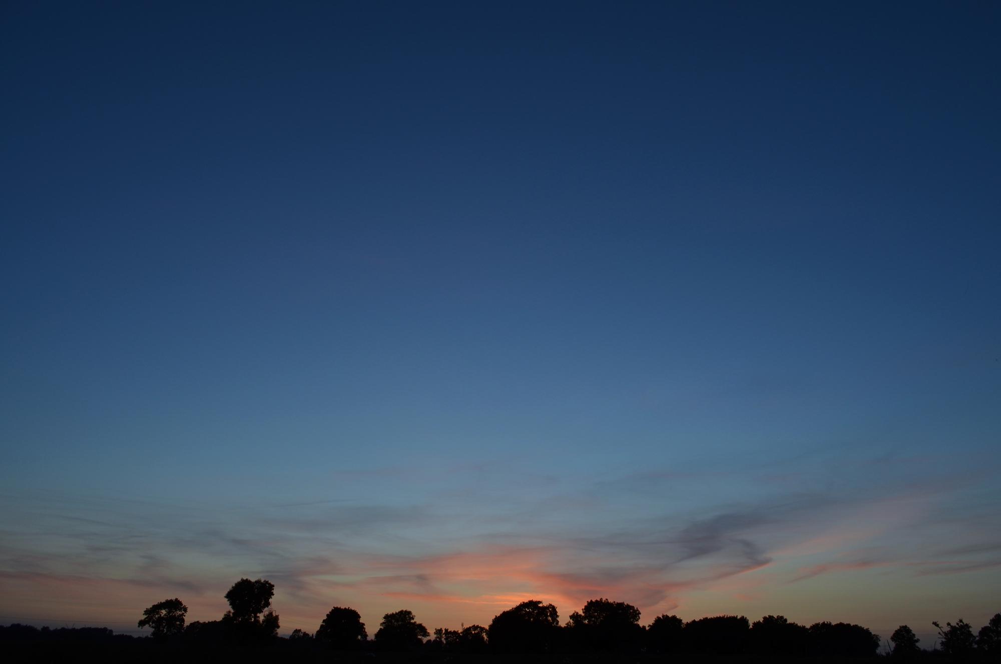 Foto: Das Blaue vom Sonnenuntergang
