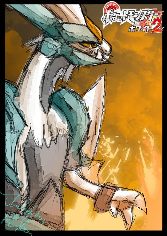 Pokémon-Zeichnung: white kyurem