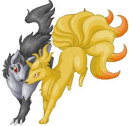 Pokémon-Pixelart: Vulnona x Magnayen