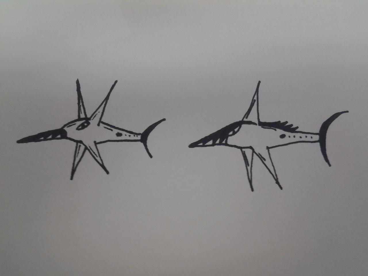 Pokémon-Zeichnung: Stahlfische?