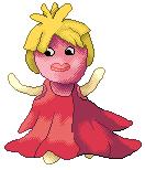 Pokémon-Pixelart: Kussilla in Rossanas Kleid :D