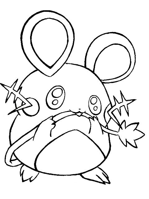 Zeichnung Dedenne Pokémon Fanart