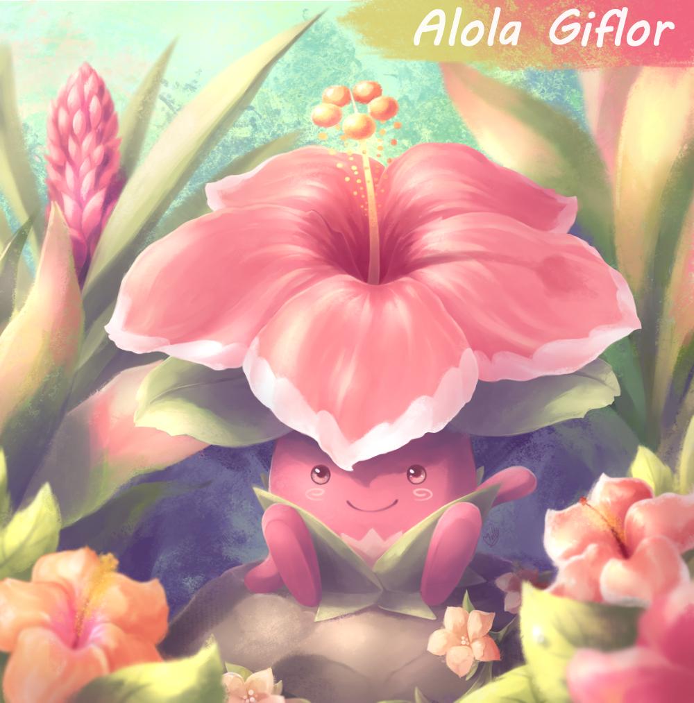 Pokémon-Zeichnung: Alola Giflor