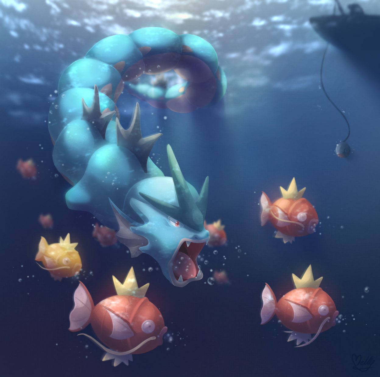 Pokémon-Zeichnung: Happy Birthday PF!